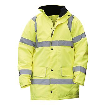 Warrior Mens Nevada High Visibility Safety Jacket