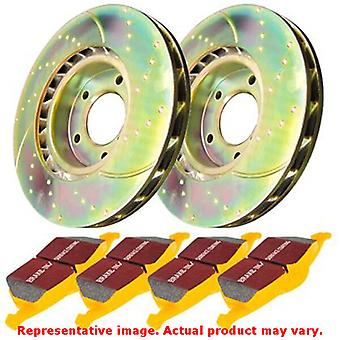 EBC Brake Kit - S5 Yellowstuff and GD Rotors S5KR1138 Fits:LAND ROVER  2005 - 2