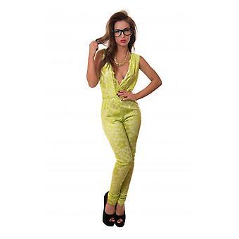 The Fashion Bible Lime Crush Lace Jumpsuit