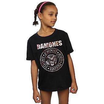 Ramones T-Shirt für Mädchen Blume Rose