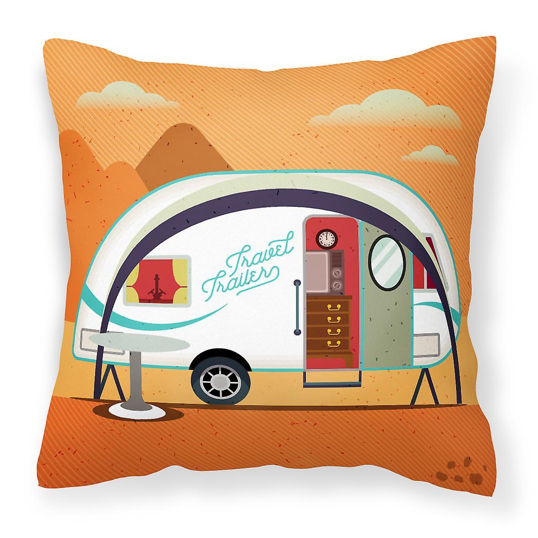 Plus grande aventure nouveau campeur tissu oreiller décoratif