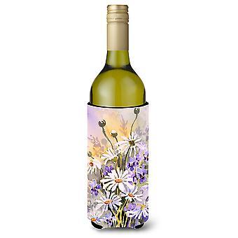 Daisies by Maureen Bonfield Wine Bottle Beverage Insulator Hugger