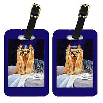 Carolines Treasures  7157BT Pair of 2 Yorkie Luggage Tags