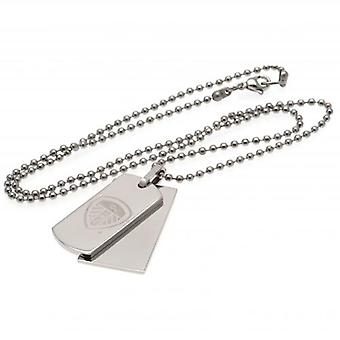 Leeds United Double Dog Tag & Chain