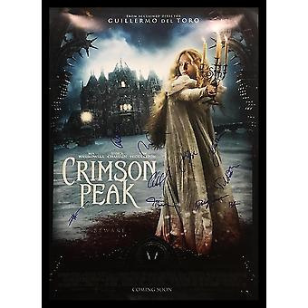 Crimson Peak - Signed Movie Poster