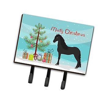Carolines Treasures  BB9282TH68 Friesian Horse Christmas Leash or Key Holder