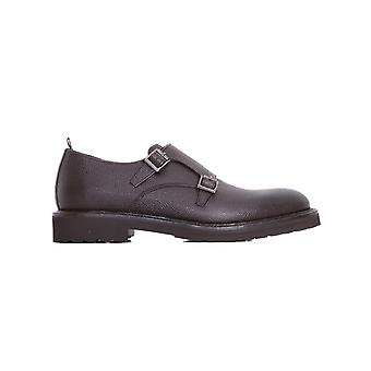 Rossi mens 6419M brown leather monk shoes