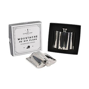 CGB Giftware Dapper Chap Moustache 4oz Hip Flask