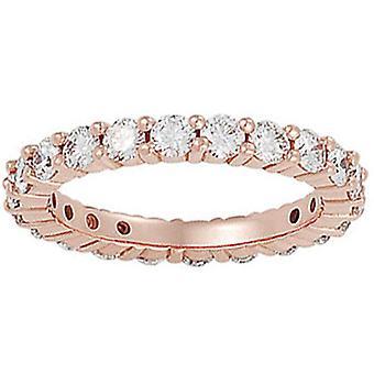 2ct Diamond Eternity Ring 14K Rose Gold