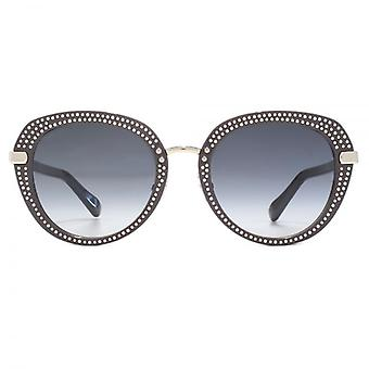 Jimmy Choo Mori Sunglasses In Smoke Silver