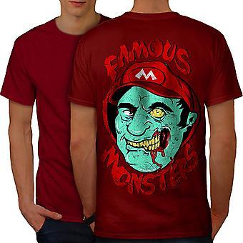 Mario Monster Dead Zombie Men RedT-shirt Back | Wellcoda