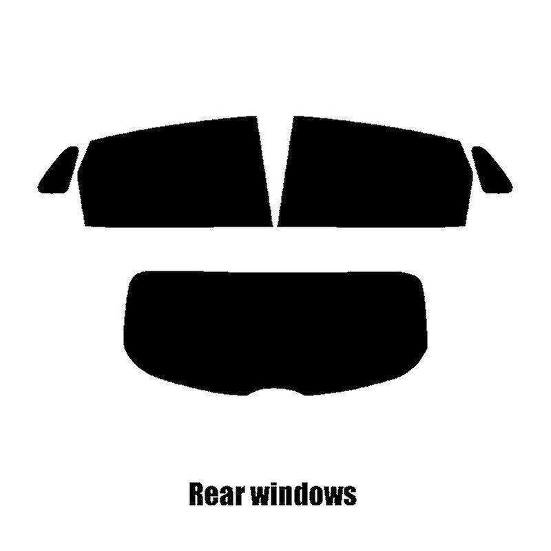 Pre cut window tint - Hyundai Kona SUV - 2017 and newer - Rear windows