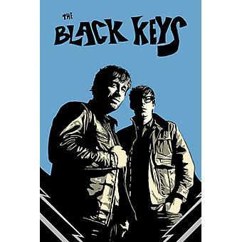 Black Keys Black & Blue Poster Poster Print