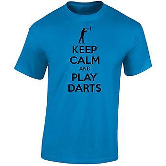 Keep Calm And Play Darts Mens T-Shirt 10 Colours (S-3XL) by swagwear