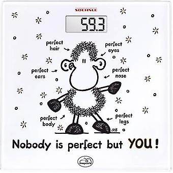 Digital bathroom scales Soehnle Sheepworld Nobody is perfect but YOU Weight ra