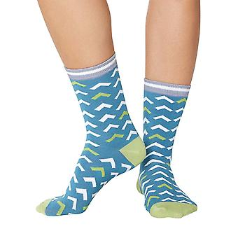 Arrow women's super-soft bamboo crew socks in lagoon | By Thought