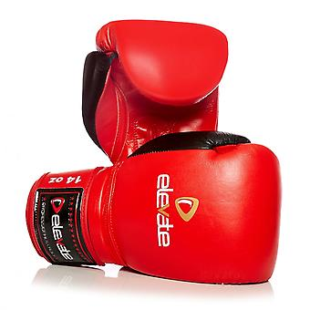 Elevate  2 Tone Leather Boxing Gloves - Red & Black