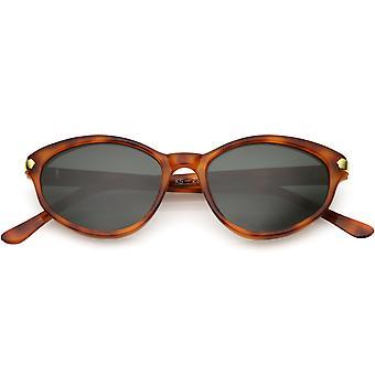 True Vintage Cat Eye Sunglasses Metal Arrow Detail Glass Lens 50mm