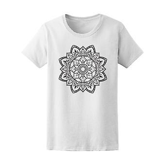 Awesome Linie Kunst Mandala T-Shirt Frauen-Bild von Shutterstock