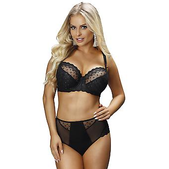 71830b2aa4 Nessa B1 Women s Paris Black Solid Colour Embroidered Non-Padded Underwired  Full Cup Bra