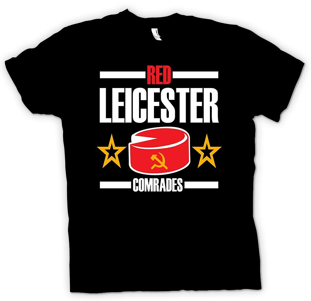 Mens T-shirt-Leicester rouge communisme - drôle - UK