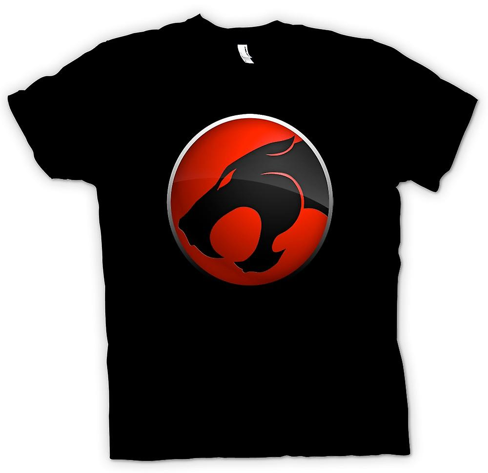 Womens T-shirt-Thundercats-Red / Black Logo