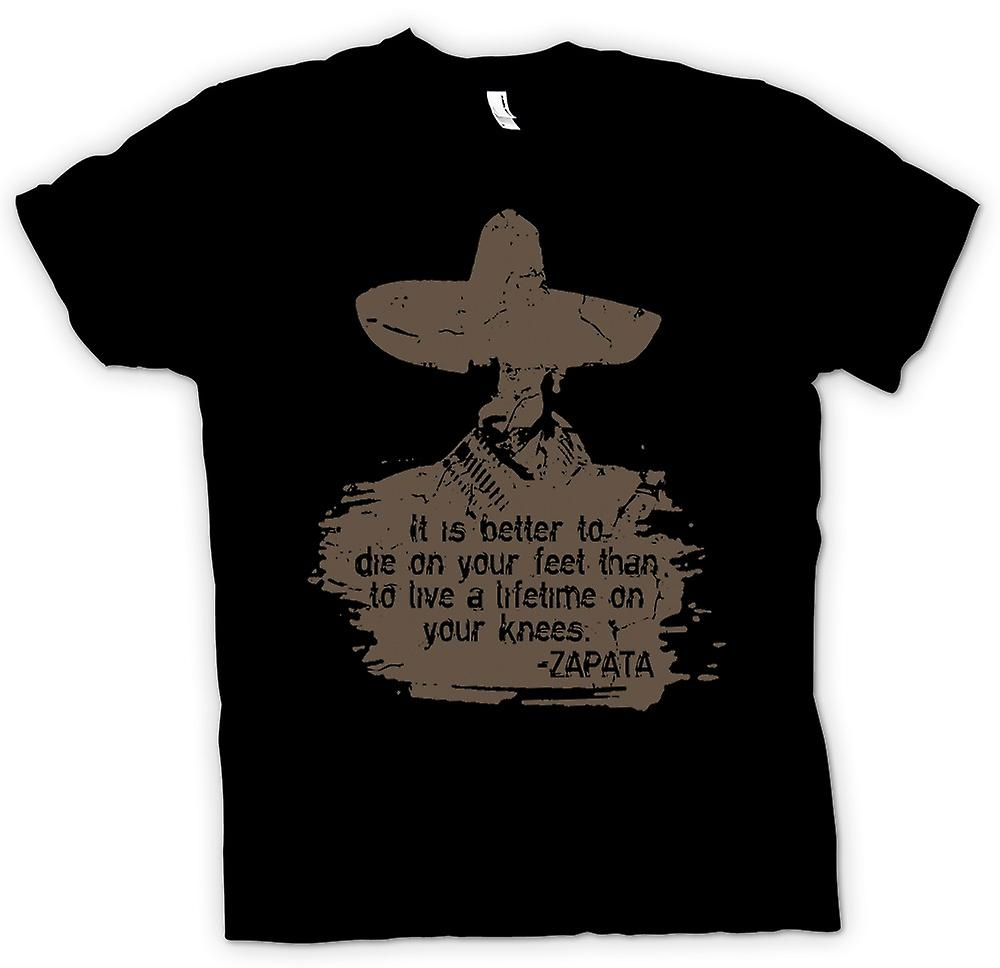 Womens T-shirt - It Is Better To Die On Your Feet Zapata