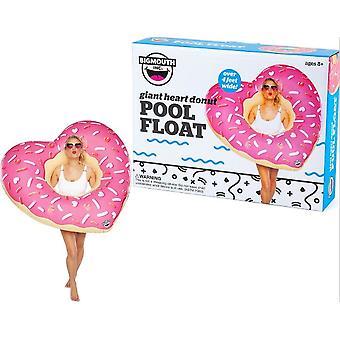 BigMouth inflable gigante corazón Donut flotador playa vacaciones piscina tumbona agua playa piscina