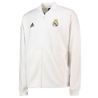 2018-2019 real Madrid Adidas ZNE hymne Jacket (blanc)