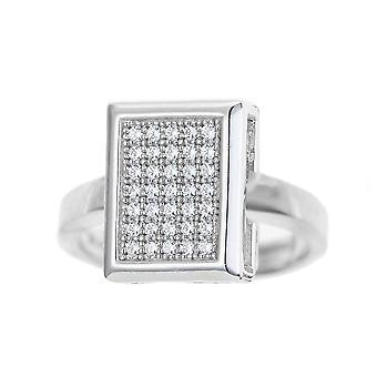 Orphelia Silver 925 Ring Square Pave  Zirconium   ZR-7269