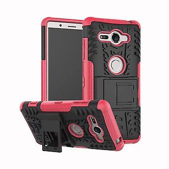 Hybrid fall 2 bit SWL robot rosa för Sony Xperia XZ2 kompakt väska fallet täcker skydd