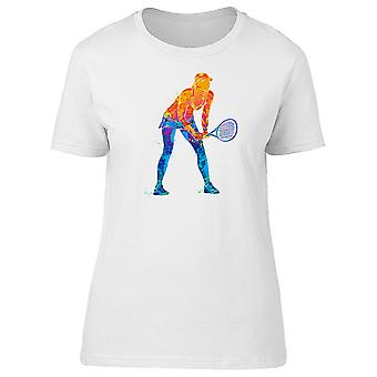 Tennis Player Girl Silhouette Tee Women's -Image by Shutterstock
