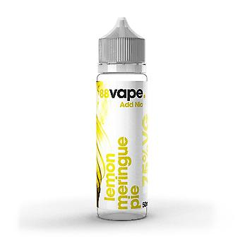 88 Vape Shortfill E-Liquid Lemon Meringue Pie Zero Nicotine 50ML of 0mg in 60ML Bottle
