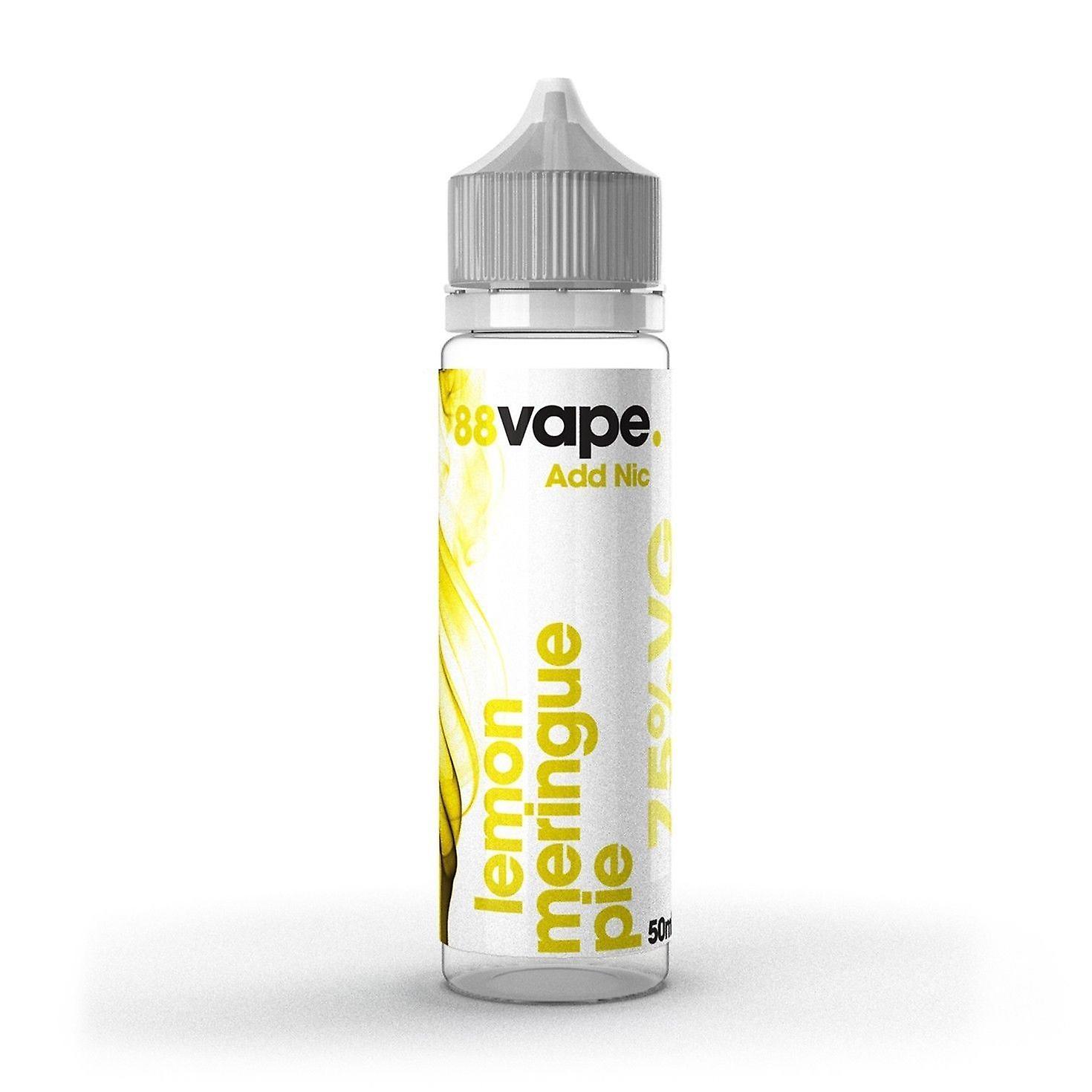 88 Vape Shortfill E-Liquid Lemon Meringue Pie NULL Nikotin 50ML von 0mg 60-ML-Flasche