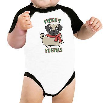 Merry Pugmas Pug grappige grafische Pet Shirt kerst Outfits voor huisdier