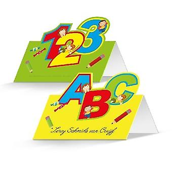 School name cards place cards 24 pieces decorative training children's Party