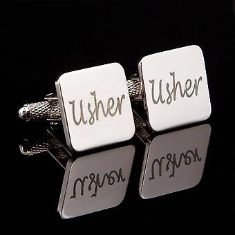 Usher Laser Wedding Cufflinks