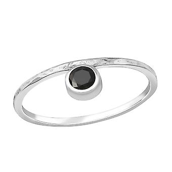 Round - 925 Sterling Silver Jewelled Rings - W37640X