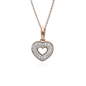 Gemondo Rose en argent Sterling plaqué or topaze clair pendentif avec chaîne 45cm