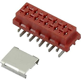 Connfly 1390076 Pin enclosure - PCB Micro-MaTch Total number of pins 10 Contact spacing: 1.27 mm 1 pc(s)