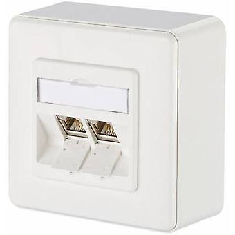 Metz Connect Network outlet Surface-mount CAT 6 2 ports Pure white