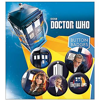 Doctor Who (Capaldi) 6 Pin Badges In Pack