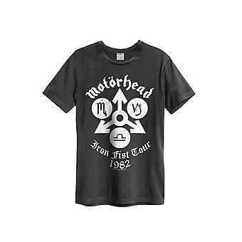 Amplified Motorhead Iron Fist Tour Charcoal Crew Neck T-Shirt M