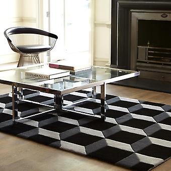 Rugs - Geometric Black / Silver Rugs - Geo04