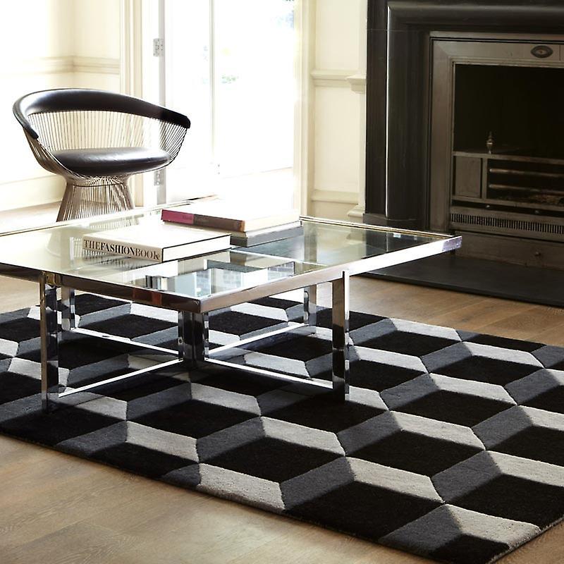Teppiche - geometrische schwarz / silber - Geo04