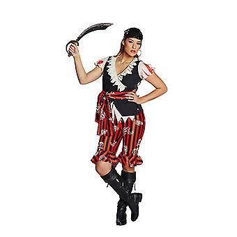 Piratin Piratenanzug Seeräuberkostüm Kostüm für Damen