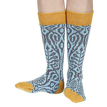 Fernhill recycled cotton patterned crew socks in paradise | Sidekick