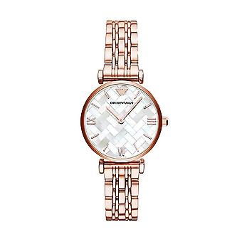 Armani Watches Ar11110 Armani Mother Of Pearl Dial And Rose Gold Ladies Watch