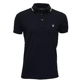 French Connection Tipped Pique Polo Shirt, Navy