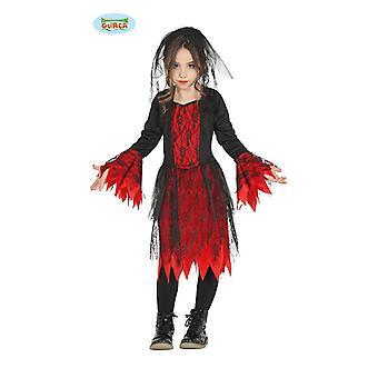 Gothic brud kostym för flickor Halloween skräck vampyr vamp Halloweenkostym